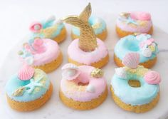 """3,866 Likes, 42 Comments - @sweets_withlove on Instagram: """"Mermaids were extremely popular in 2016 so were these donuts, so much love was poured into these…"""""""