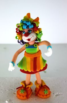 *SORRY, no information as to product used ~ Clown Figurine