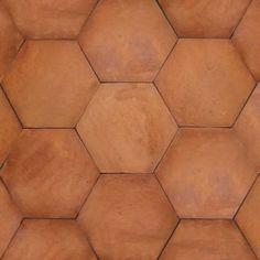 Hexagon Tierra High Fired Handcrafted Terra Cotta Floor Tile