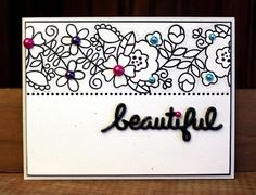 Card by SPARKS DT Larissa Heskett PS stamp set: Blossoming Buds; PS dies: Kudos Words