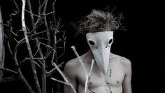 Black or White Raven Viking plaster mask by MaitreCorbeau on Etsy
