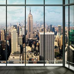 Window Mural, Window View, Ny Skyline, Apartment View, Background Hd Wallpaper, City That Never Sleeps, Nyc, House Goals, San Francisco Skyline