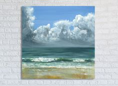 Ocean Painting Sea Art Oil Original // Peppermint Cove by Katie Jobling