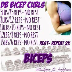 Bicep Workout IG: @haleya_fit_happens