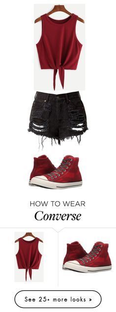 """#OOTD17"" by lilythefangirl on Polyvore featuring Converse"