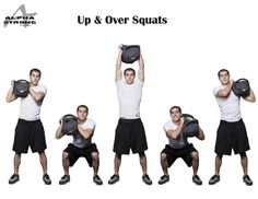 sandbag up & and over squats
