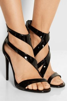 Tamara Mellon | Tiger patent-leather sandals | NET-A-PORTER.COM