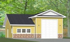 Small house love on pinterest floor plans small house plans and rv garage - Garage for rv model ...