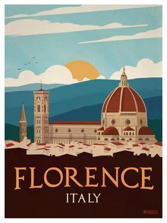 Vintage Florence Poster by IdeaStorm Media ideastorm.bigcart… Vintage Florence Poster by IdeaStorm Media ideastorm. Vintage Travel Posters, Vintage Postcards, Vintage Ads, Vintage Gifts, Old Poster, City Poster, Tourism Poster, Photo Vintage, Jolie Photo