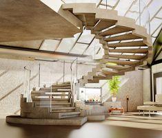 Wendeltreppe-modernes Treppenhaus Ideen Design
