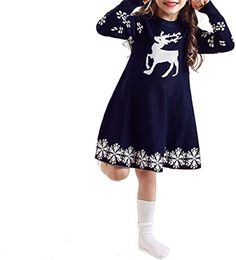 New NNJXD Flower Girl's Wedding Dress Lace Sleeveless Tulle Christmas Dresses. reindeer christmas jumper ($18.98) from top store alltoenjoyshopping