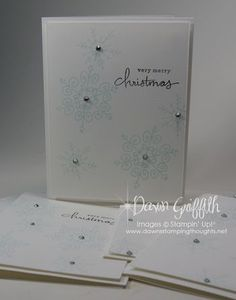 This Christmas card made with Endless Wishes is very sweet!