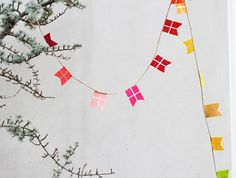 How to make colorful flag garland - The House That Lars Built