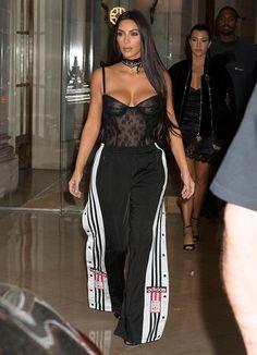 Resultado de imagen de kim kardashian en chandal paris