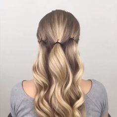 56 Updo Hairstyle Ideas & Tutorials for Wedding - Frisuren - Hochsteckfrisur Easy Hairstyles For Long Hair, Cute Hairstyles, Braided Hairstyles, Updo Hairstyle, Hairstyle Ideas, Long Hair Easy Updo, Easy Elegant Hairstyles, Buns For Long Hair, Long Hair Updos