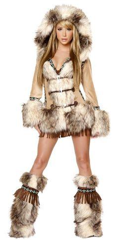 J Valentine Eskimo Women's Halloween Costume