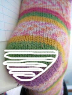 German Short Row method. VIDEO sock heel turn bottom of heel with short rows marked by rrrichardson2001, via Flickr