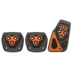 Manual Car Pedals, Metal Padded Foot Brake Orange Pedal Pads Bmw And Benz  This excellent universal pedal pads kit fits manual transmission with all hardware included.  The ford brake pedal pad set is manufactured from durable material for long lasting quality and easy installation.  This padded foot brake pedal pads comes in a choice of colors to match the color theme of your ride with inserts for a timeless race inspired look and feel.  The toyota corolla brake pedal pad offers style...