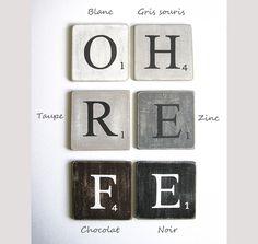 lettres décoratives, scrabble federation