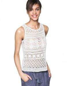 Crochet knit top - BENETTON.