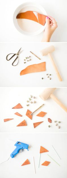 DIY: How To Make Leather Stamped Cheese Markers