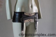 Steampunk Lingerie Suspender Girdle Garters Garter Belt Knickers Panties Lace Leather ette - Chrisst - EXPRESS SHIPPING UPGRADE. $129.00, via Etsy.