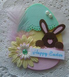 Easter Egg Bunny Embellishment on Etsy, $4.99