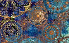 винтажный фон, узоры, текстура, орнамент, круги