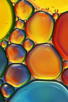 Tropical Oil And Water Ii Poster By Sharon Johnstone