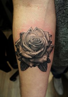 rose tattoo on forearm www.facebook.com/szoszisti