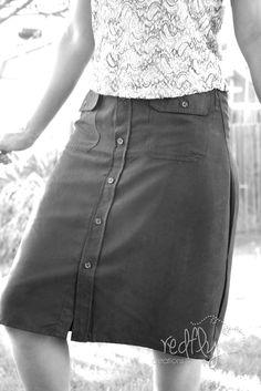Woman's Skirt from a Man's Dress Shirt