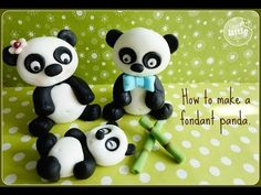 How To...Fondant Panda Tutorial - YouTube