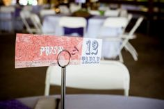 PHISH themed wedding. Phish Ticket Stubs Table Numbers from our wedding 5-25-13