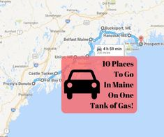 Gas is expensive, but that doesn't mean you can't hit the road for fun! Here's our list of the best places in Maine to visit on just one tank of gas! Camping In Maine, Winter Camping, Travel Maine, Death Valley Camping, Belfast Maine, Camping San Sebastian, Acadia National Park Camping, Camping Activities For Kids, Yosemite Camping