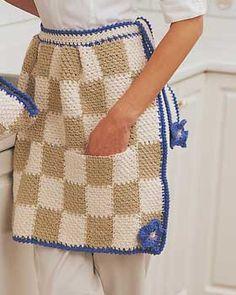 Checkered Kitchen Apron Free Pattern « The Yarn Box The Yarn Box