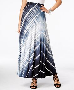 INC International Concepts Tie-Dyed Maxi Skirt, Only at Macy's