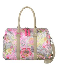 Another great find on #zulily! Pink Floral Boston Bag #zulilyfinds