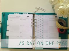 A5 Day on 1 Page 2014 Calendar Printable Planner - Simple - Filofax - INSTANT DOWNLOAD on Etsy, $4.52