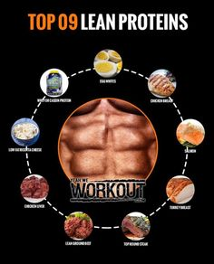 Top 09 Lean Proteins - Healthy Fitness Recipe Training ... Lean Protein, Training, Healthy, Fitness, Tips, Recipes, Recipies, Work Outs, Excercise