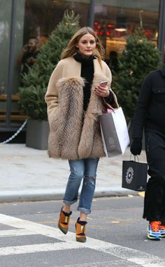 Olivia Palermo Shopping in Soho December 3, 2016