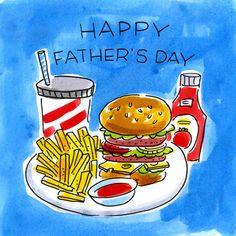 Hamburger en friet voor vadersdag- Greetz