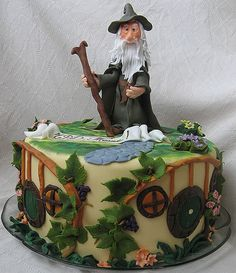 Lord of the Rings Gandolf Birthday Cake