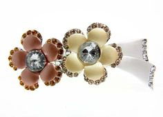 Autumn Crystal double flower Hair Clip Jewelry for Women -- You can get more details by clicking on the image.