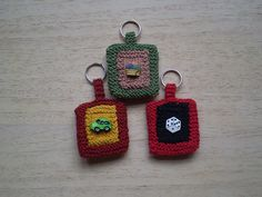 Button Key Rings by Rosemily, via Flickr