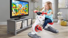 CES 2017: Fisher-Price debuts a smart stationary cycle built especially for toddlers. It works with apps, has a tablet holder and incorporates learning with peddling.