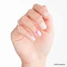 #August's #StyleBox - #DaretoBareJN | #Jamberry | #Feminine | This months feminine box is the perfect #sweet and #summery take on the negative space trend. Featuring #youthful #florals and a #pink-hued #abstract-inspired #design, these exclusives are made for letting your uncolored nail peep through and achieving a super #chic look. To receive this month's Feminine StyleBox you must subscribe by August 15th, 2016