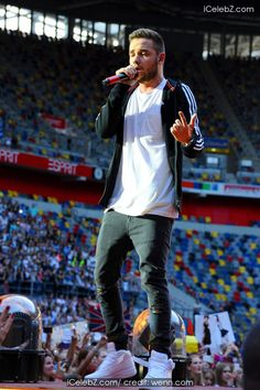 Liam Payne One Direction performing live in concert during their 'Where We Are' tour at Esprit Arena http://icelebz.com/events/one_direction_performing_live_in_concert_during_their_where_we_are_tour_at_esprit_arena/photo4.html