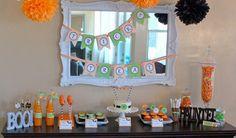 Fiesta de Halloween en naranja y verde