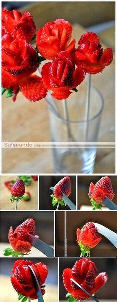 Rose strawberries.. for v-day