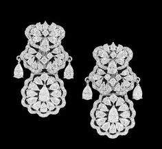 Lot: Diamond Dangle Earrings, Lot Number: 0397, Starting Bid: $7,000, Auctioneer: New Orleans Auction Galleries, Auction: Fine Jewelry, Furs & Accessories      , Date: November 18th, 2017 CET